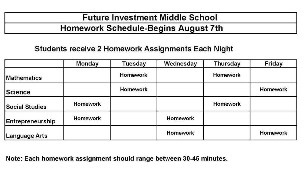 Copy of FI Homework Master Schedule