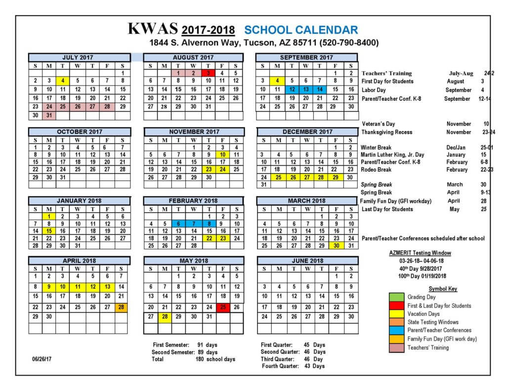 KWAS Calendar 2018 final Official1