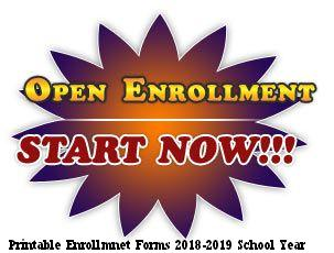 Printable Open Enrollment forms for the Griffin Foundation, PreK-8th grade