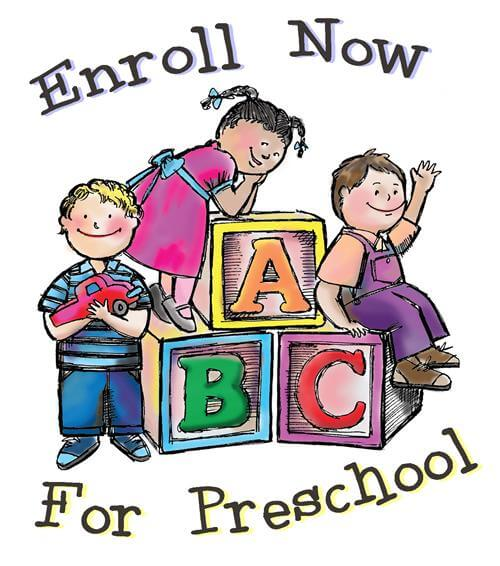 Preschool (Pre K) enrollment with children climbing on blocks