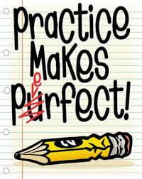 Practice Makes Perfect, Pencil, student practice resources